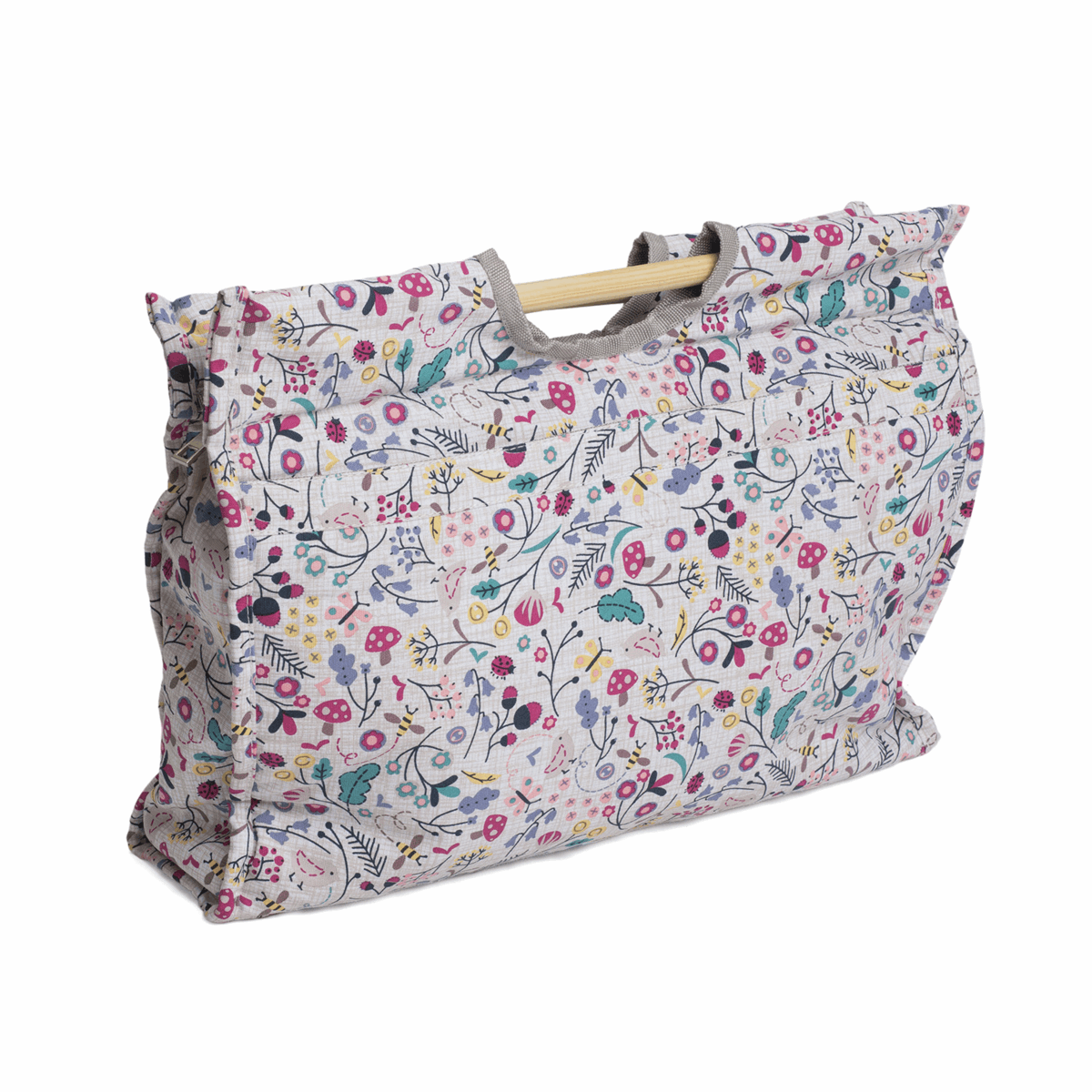 Picture of Craft Bag with Wooden Handles: Spring Time