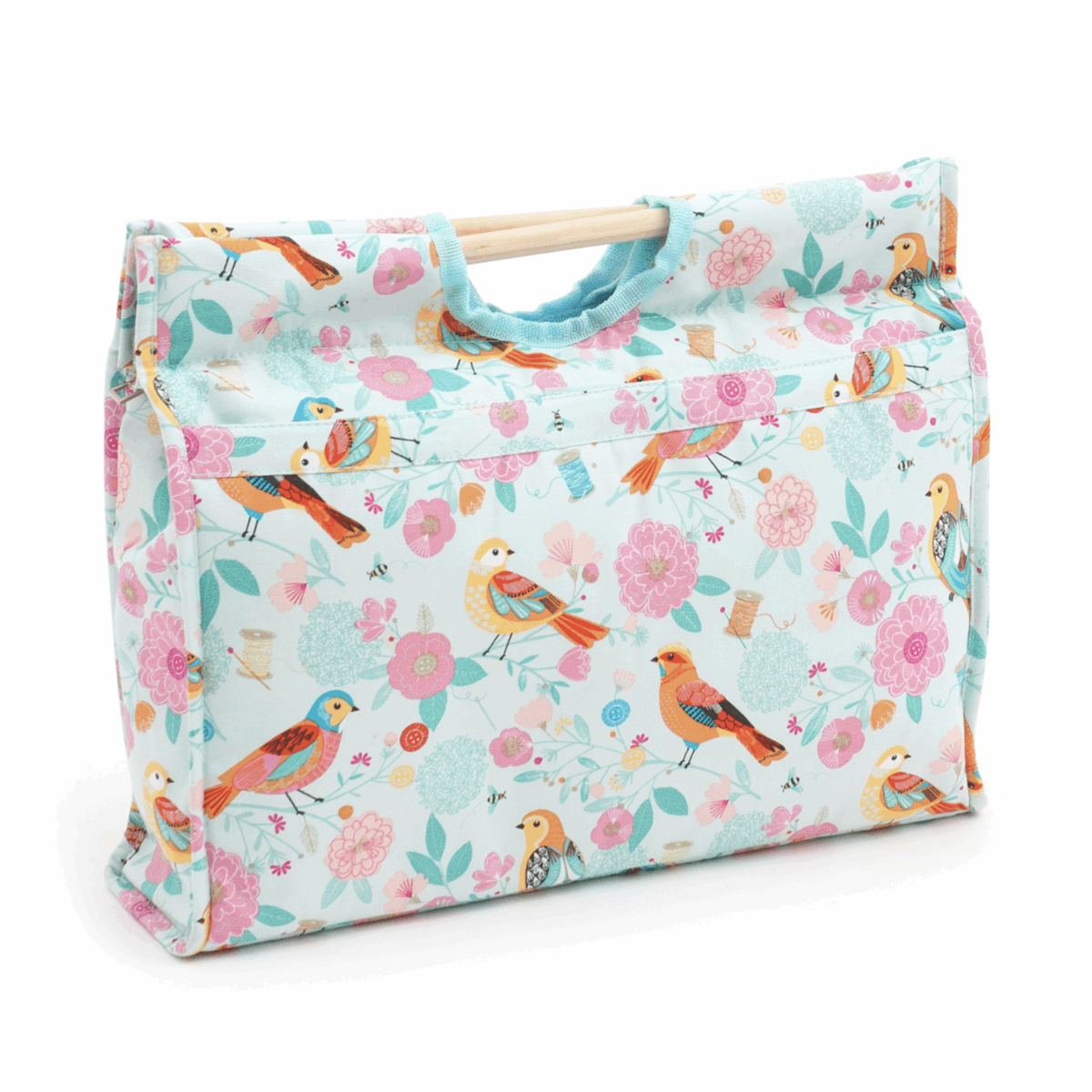 Picture of Craft Bag with Wooden Handles: Birdsong
