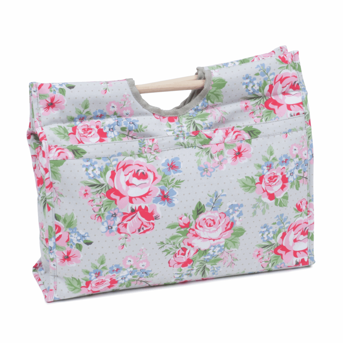 Picture of Craft Bag with Wooden Handles: Rose