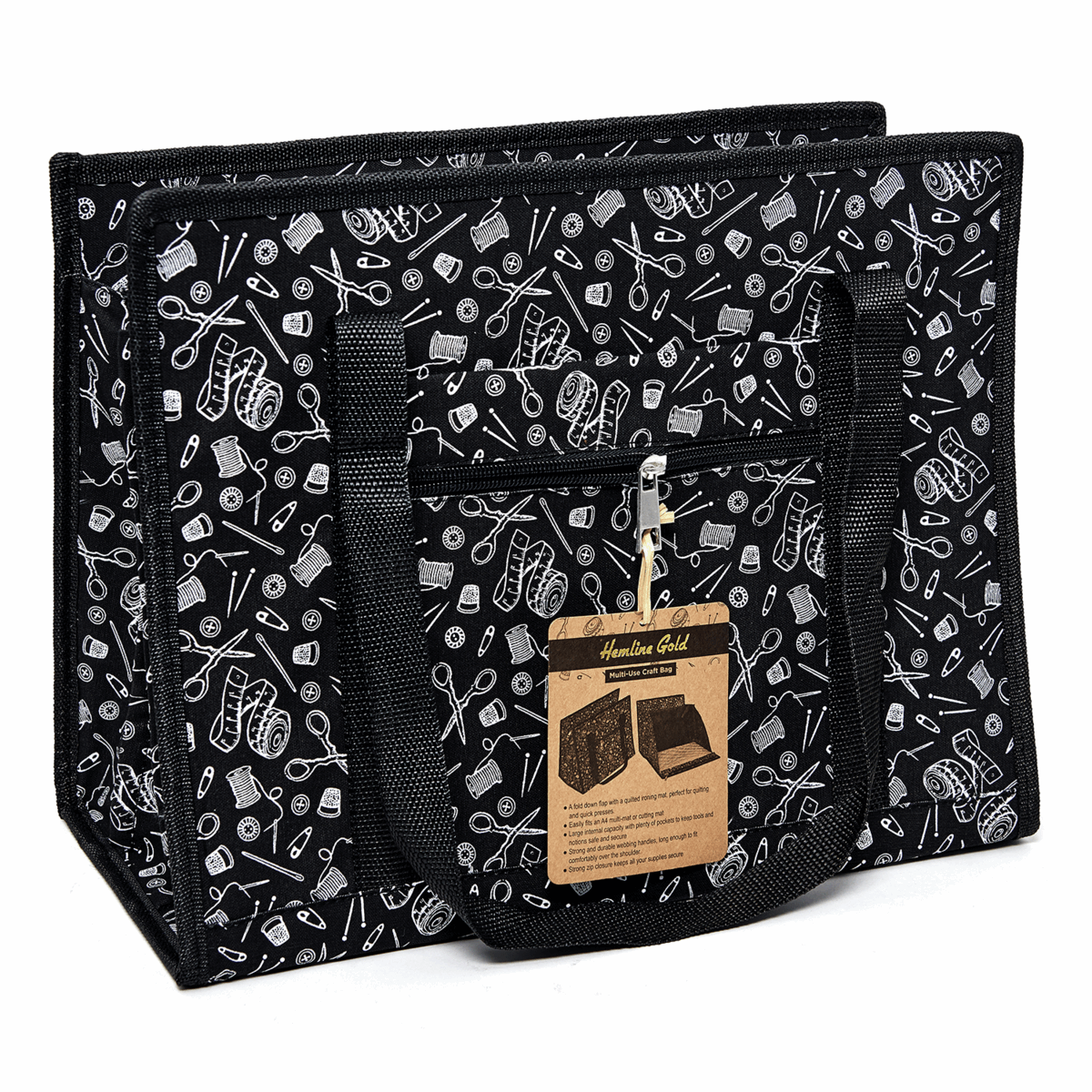 Picture of Craft Bag: Multi-Use: Hemline Gold Notions Print