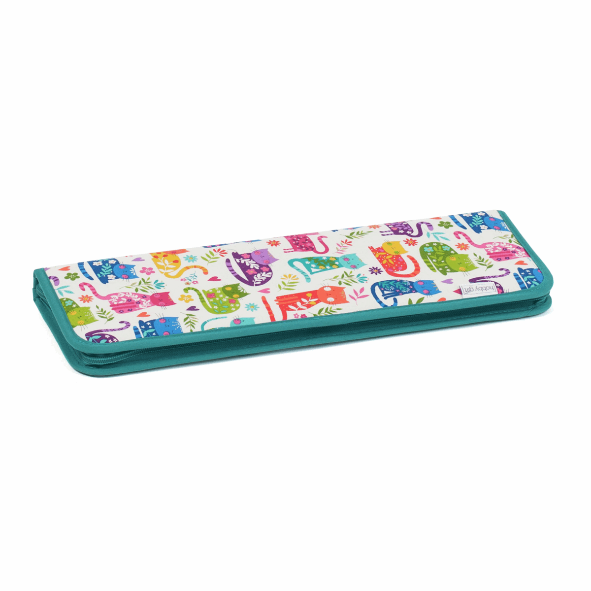 Picture of Knitting Pin & Crochet Hook Case: Hard: Empty: Cats