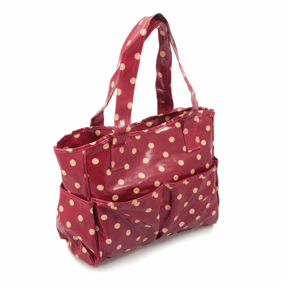 Picture of Craft Bag: Glossy PVC: Red Spot