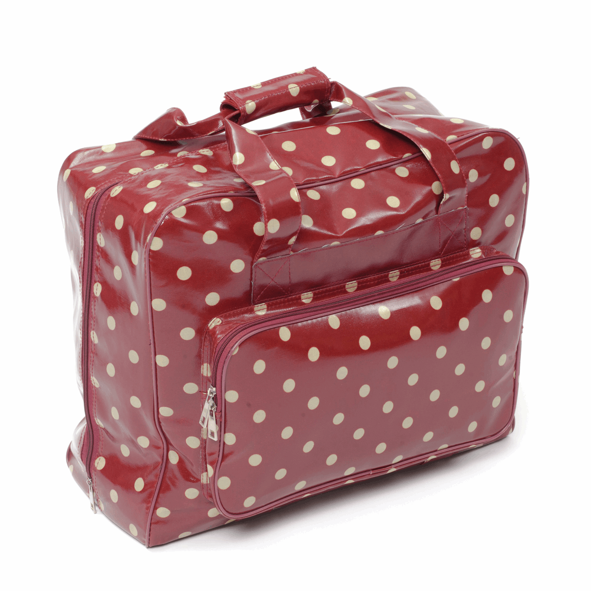 Picture of Sewing Machine Bag: Glossy PVC: Red Spot