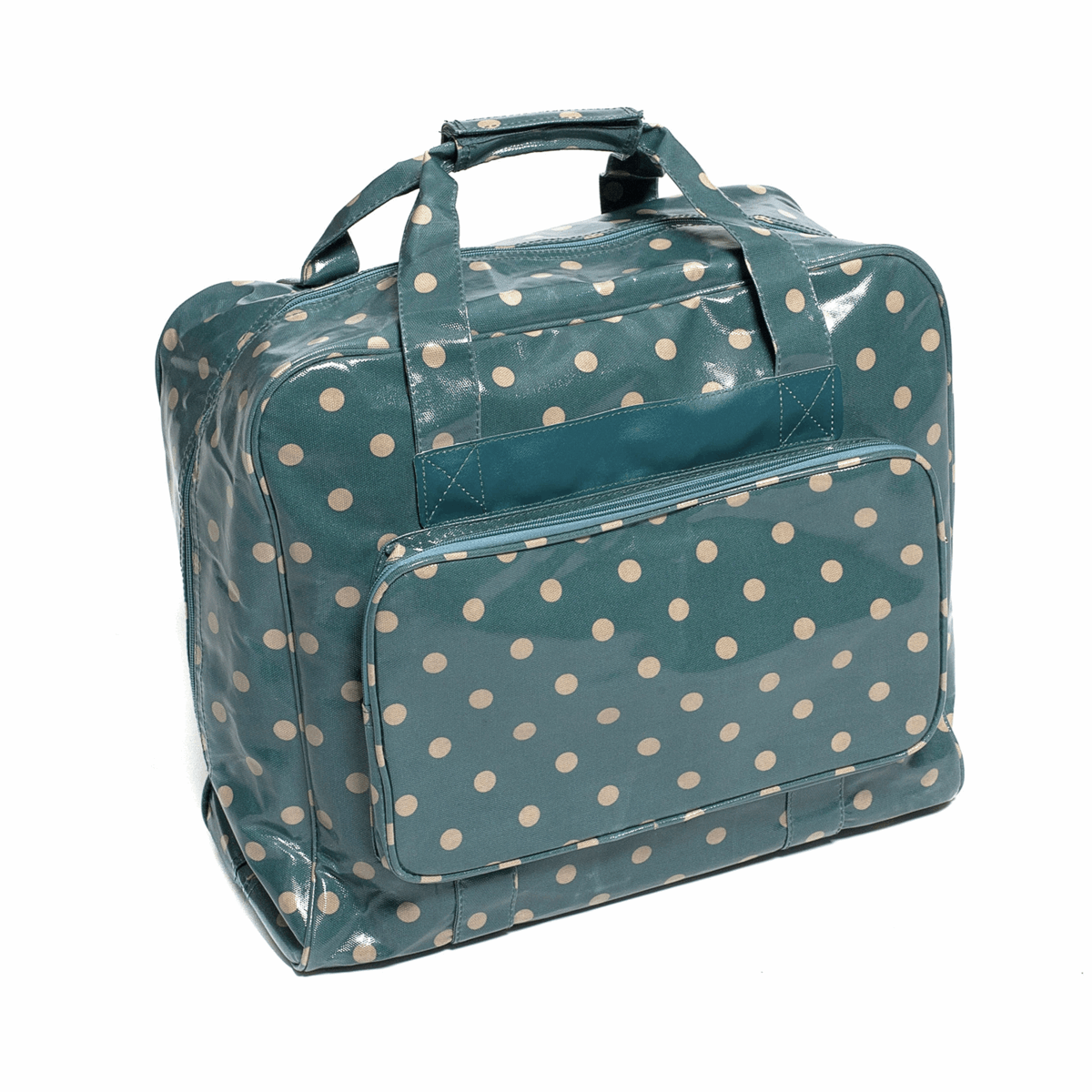 Picture of Sewing Machine Bag: Glossy PVC: Blue Spot