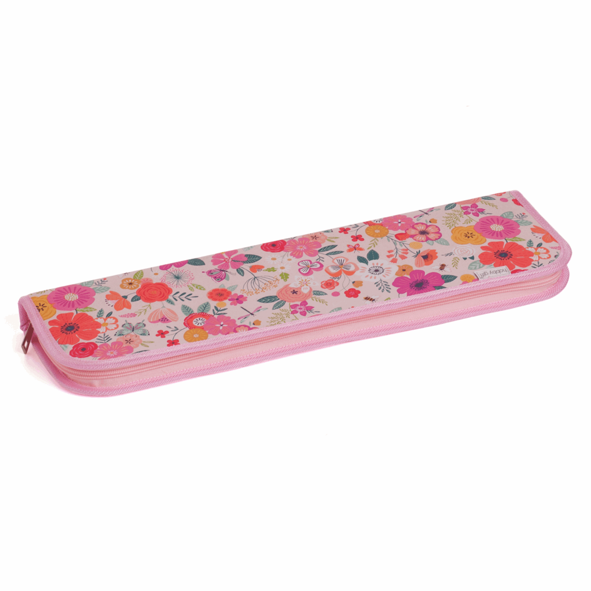 Picture of Knitting Pin and Crochet Hook Case: Hard: Floral Garden: Pink: Pack of 3