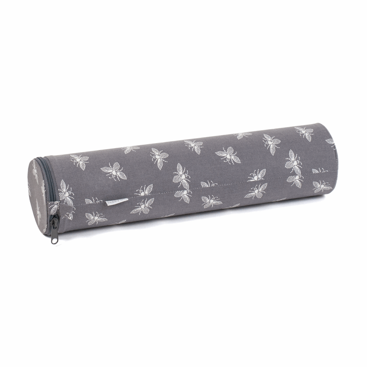 Picture of Knitting Pin Case: Tube: Grey Bees