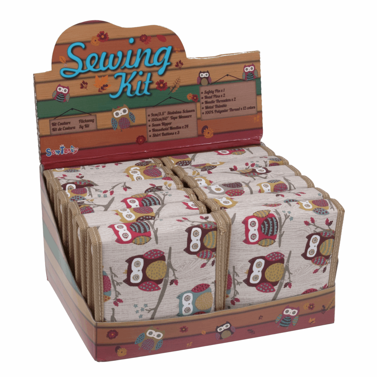 Picture of Counter Display Unit: Sewing Kits: Hoot: 12 Pieces