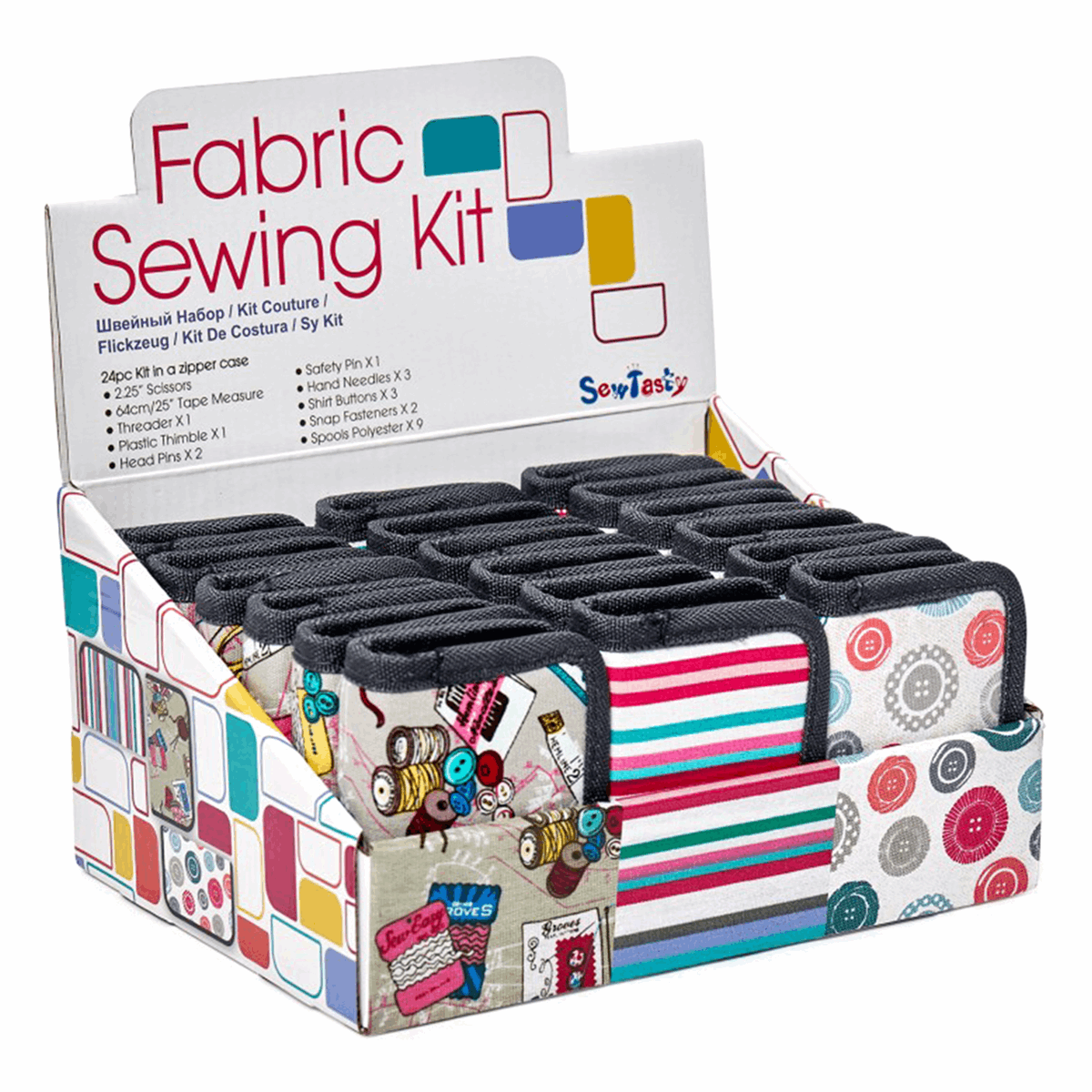 Picture of Counter Display Unit: Fabric Sewing Kit: 18 Pieces