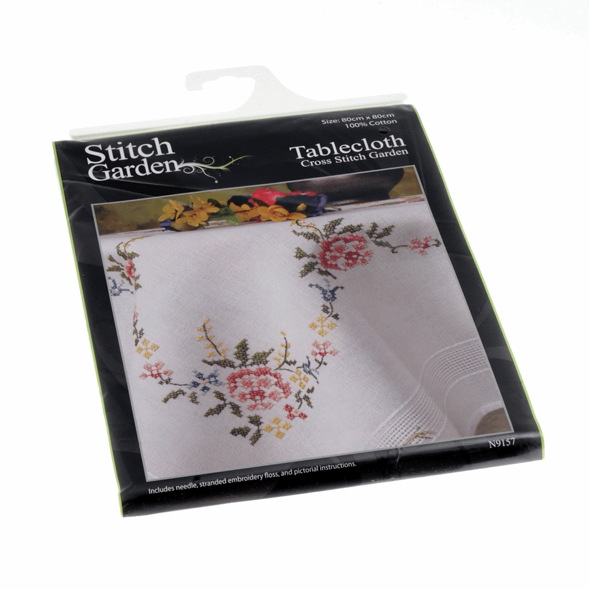 Picture of Cross Stitch Kit: Tablecloth: Garden