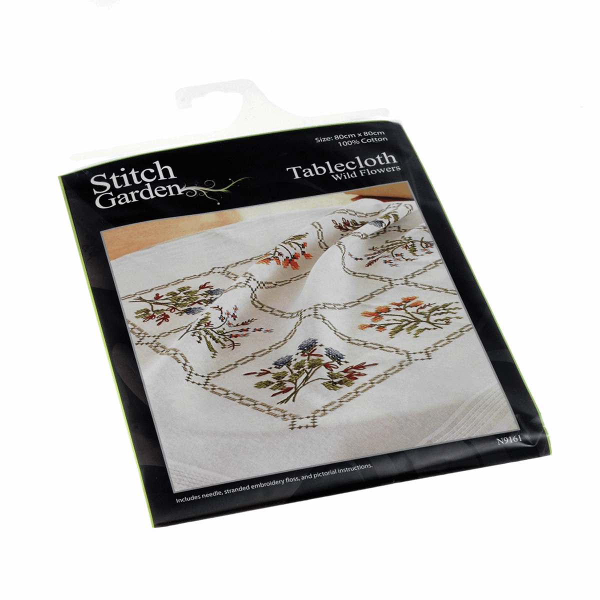 Picture of Cross Stitch Kit: Tablecloth: Wild Flowers