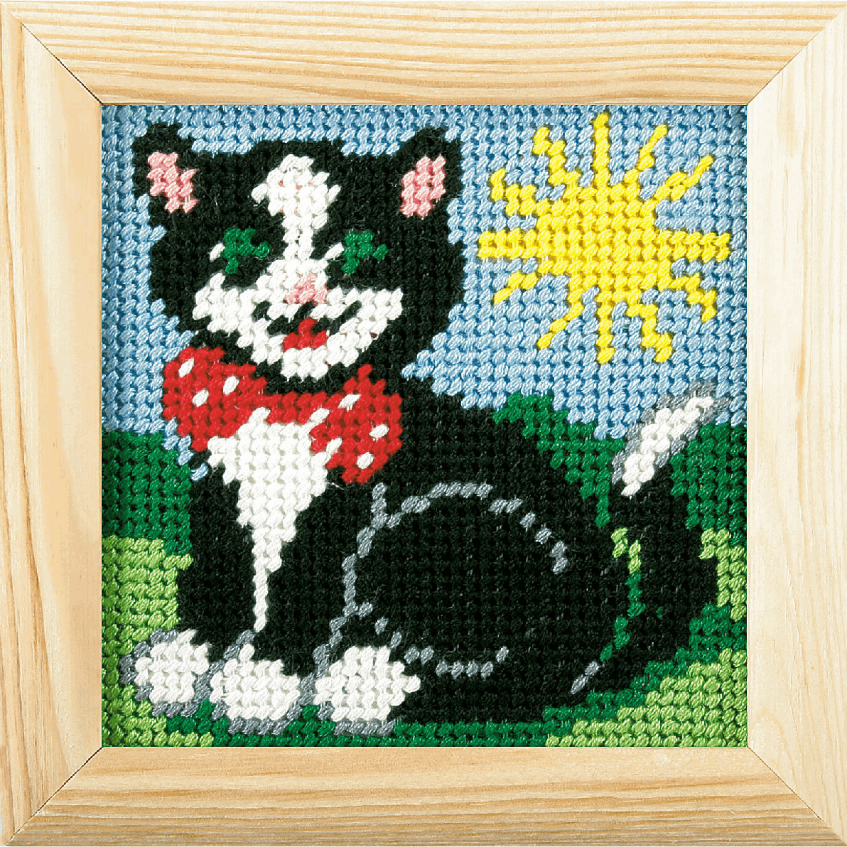 Picture of Needlepoint Kit: My First Embroidery: Cat