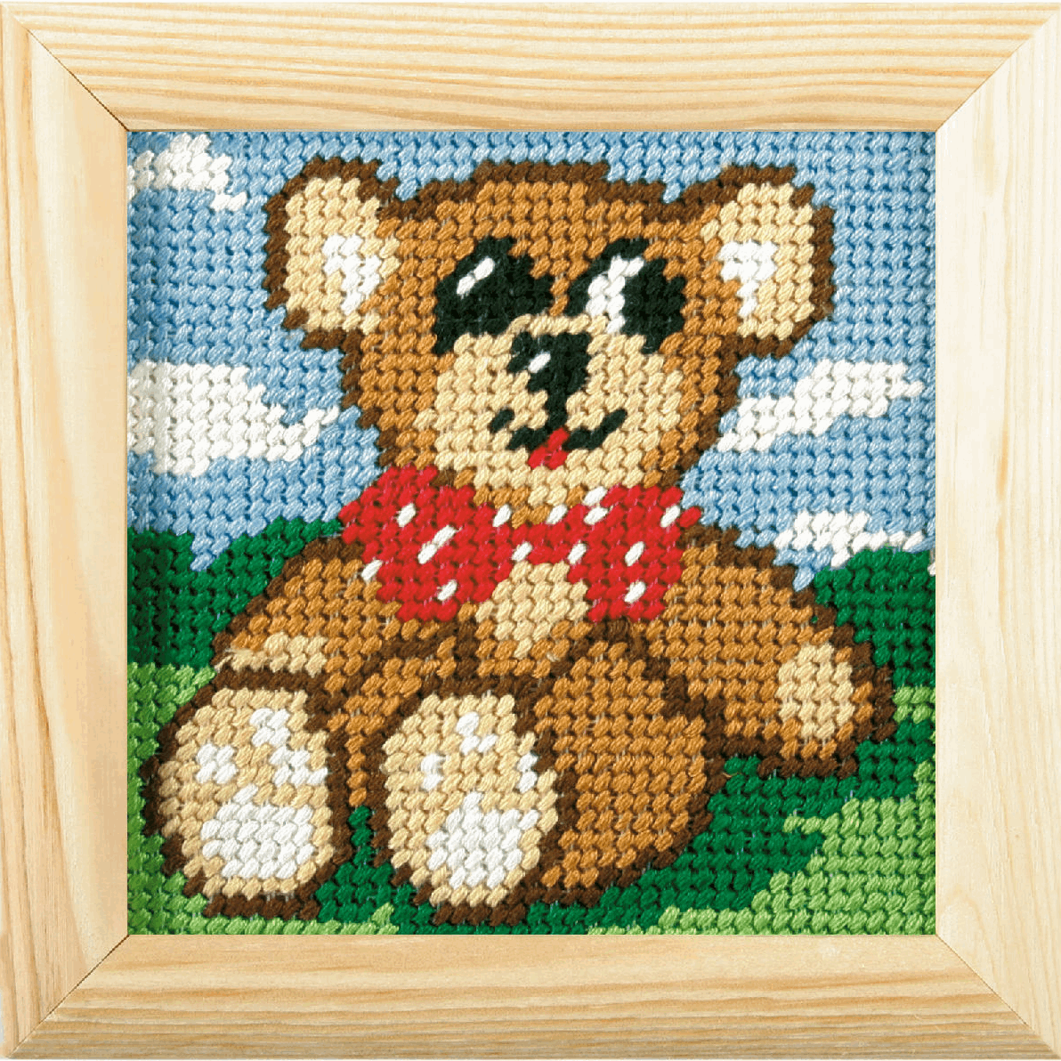 Picture of Needlepoint Kit: My First Embroidery: Teddy