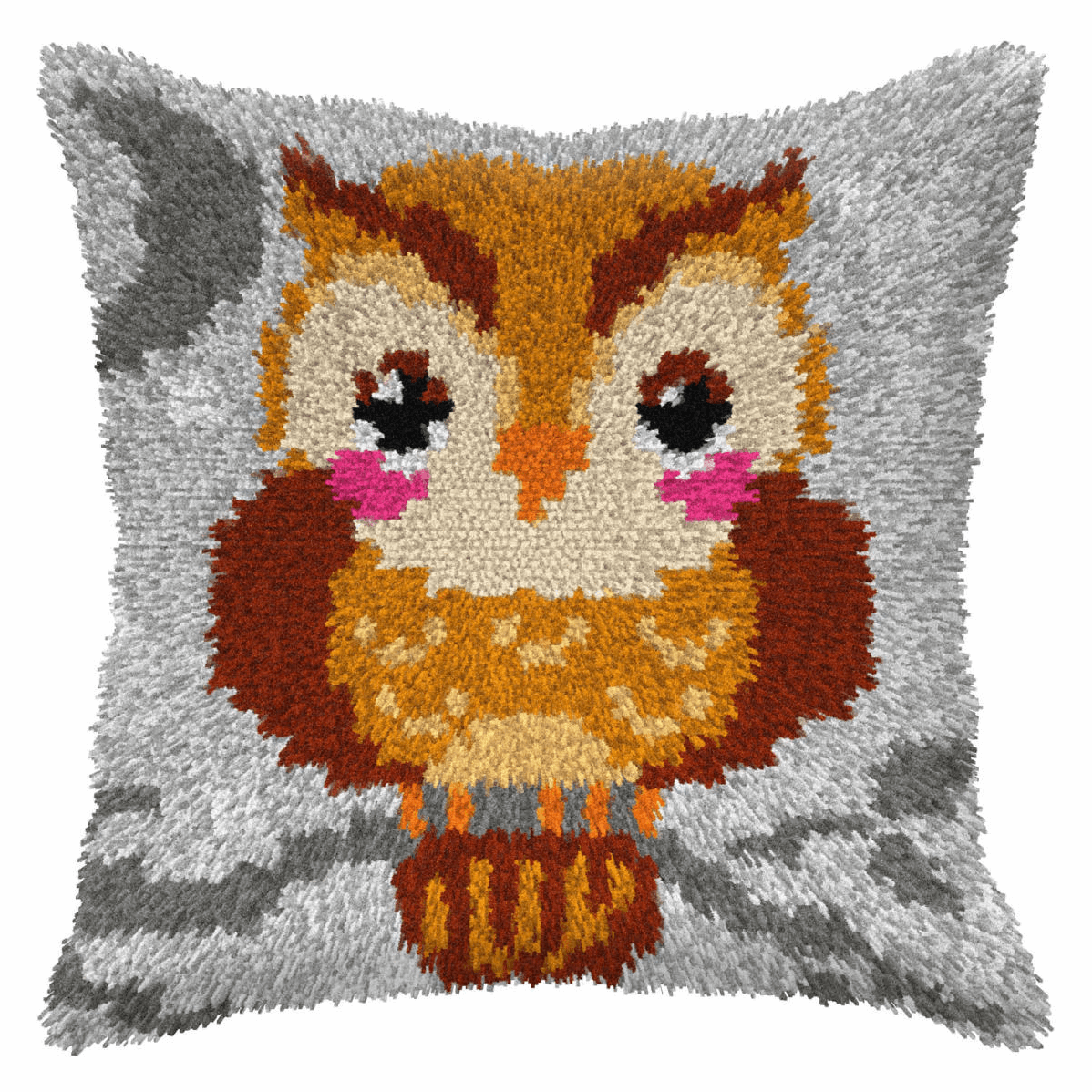 Picture of Latch Hook Kit: Cushion: Small: Owl
