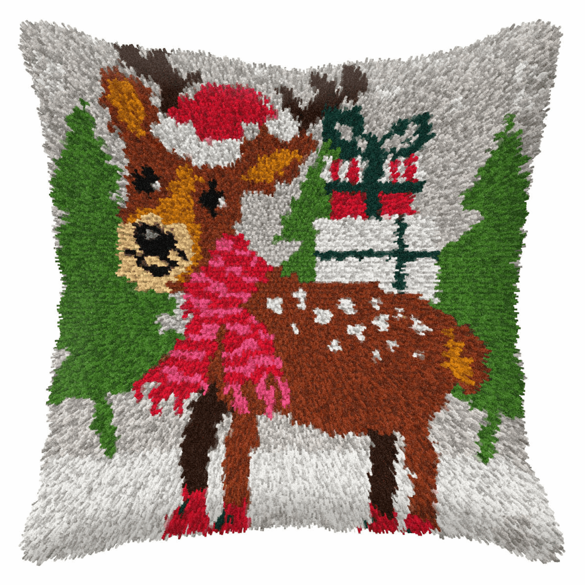 Picture of Latch Hook Kit: Cushion: Large: Reindeer