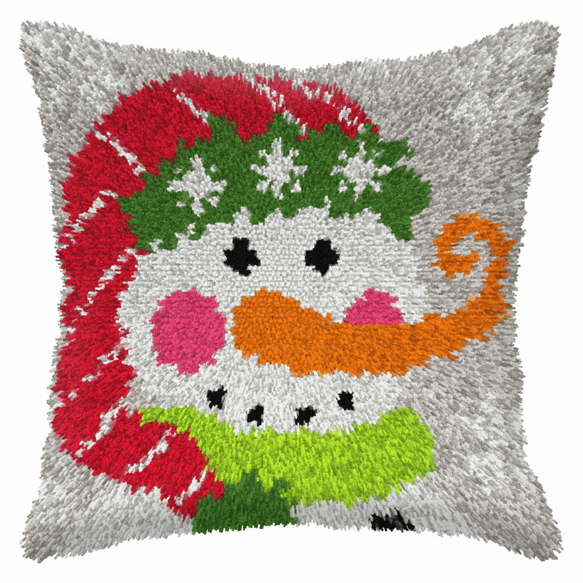 Picture of Latch Hook Kit: Cushion: Large: Snowman