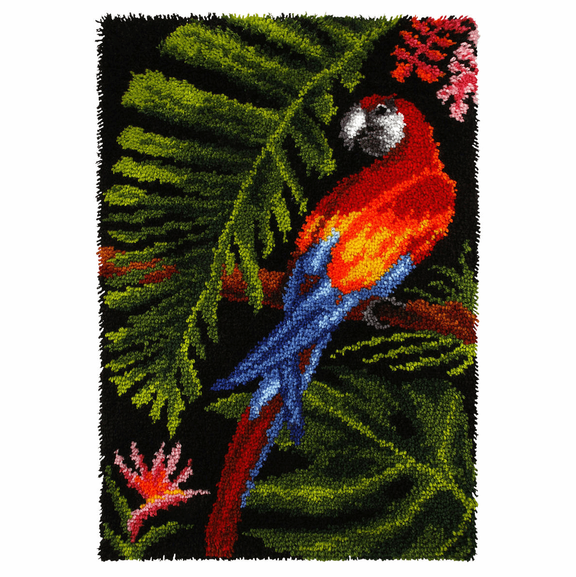 Picture of Latch Hook Kit: Rug: Parrot