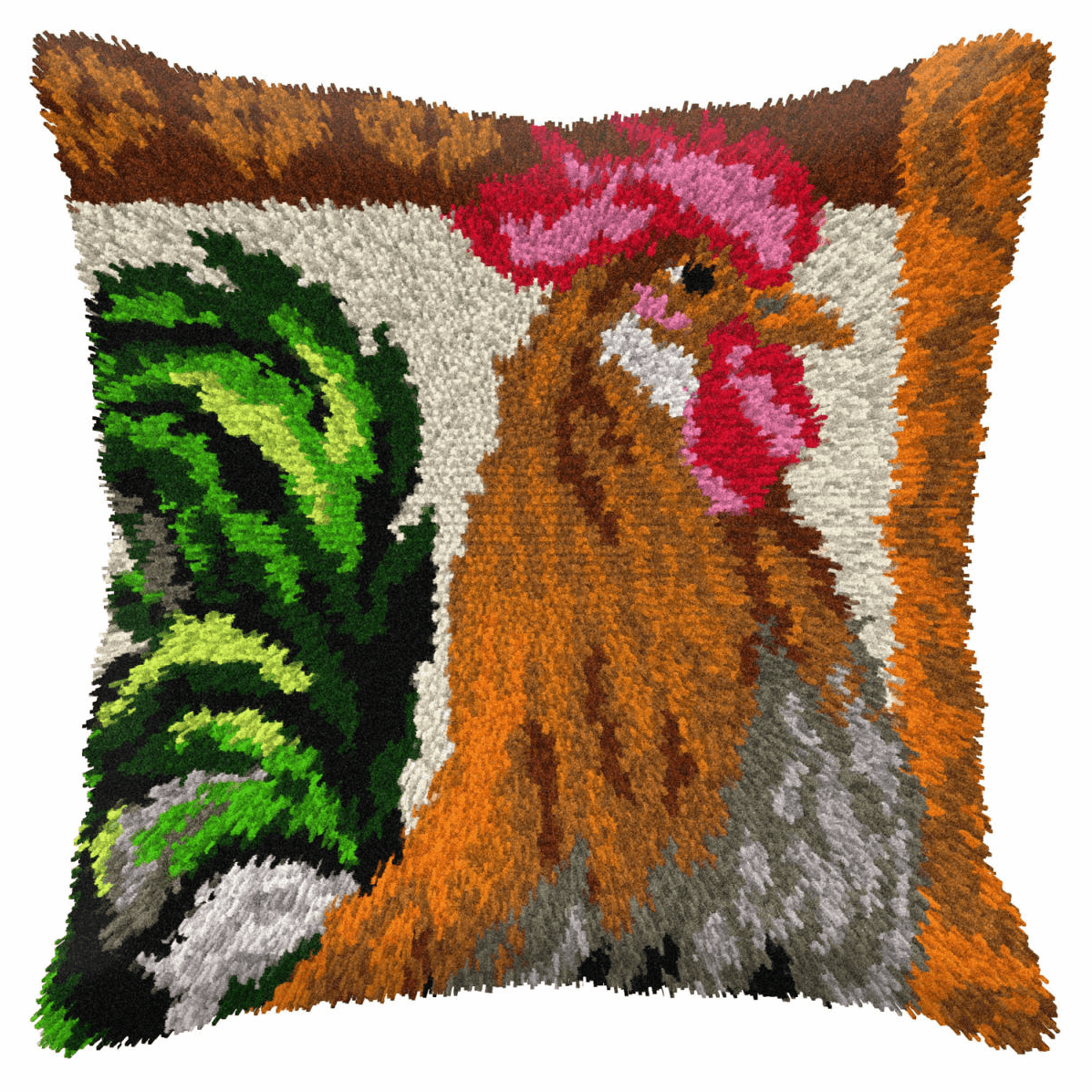 Picture of Latch Hook Kit: Cushion: Large: Rooster