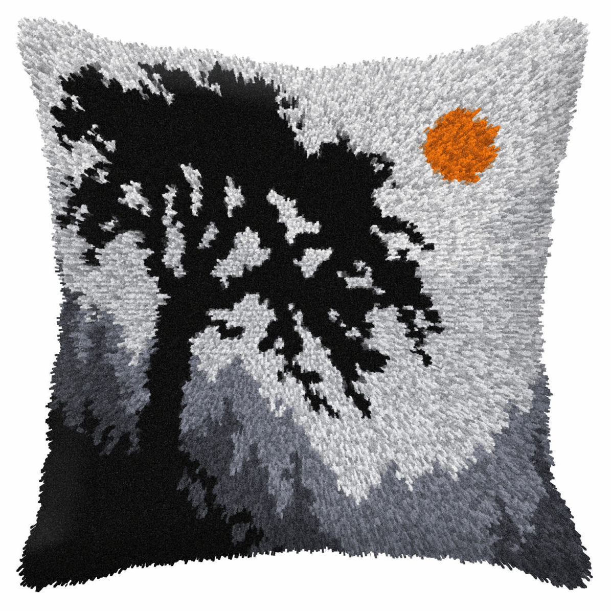 Picture of Latch Hook Kit: Cushion: Large: Forest at Night
