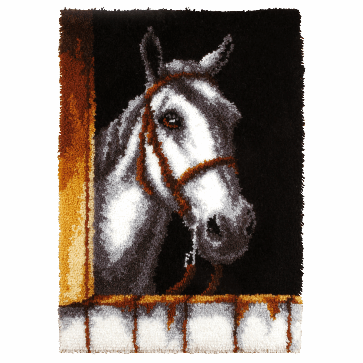 Picture of Latch Hook Kit: Rug: White Horse Head