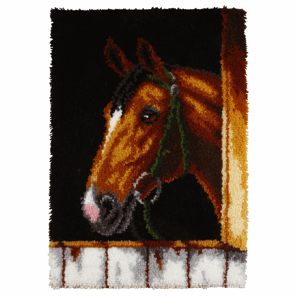 Picture of Latch Hook Kit: Rug: Bay Horse Head