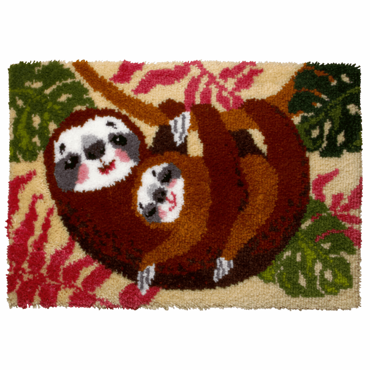 Picture of Latch Hook Kit: Rug: Sloth Family