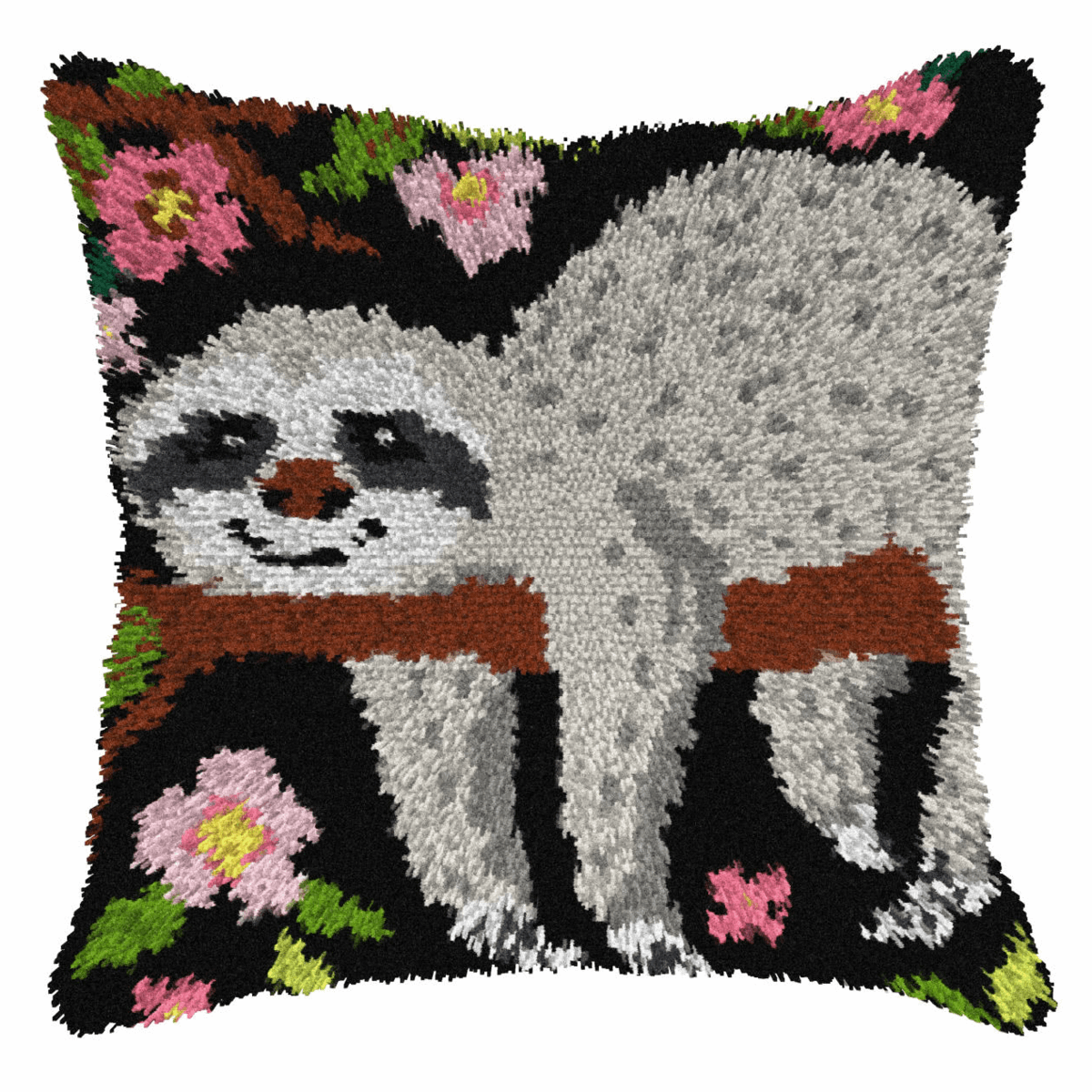 Picture of Latch Hook Kit: Cushion: Large: Sloth 1