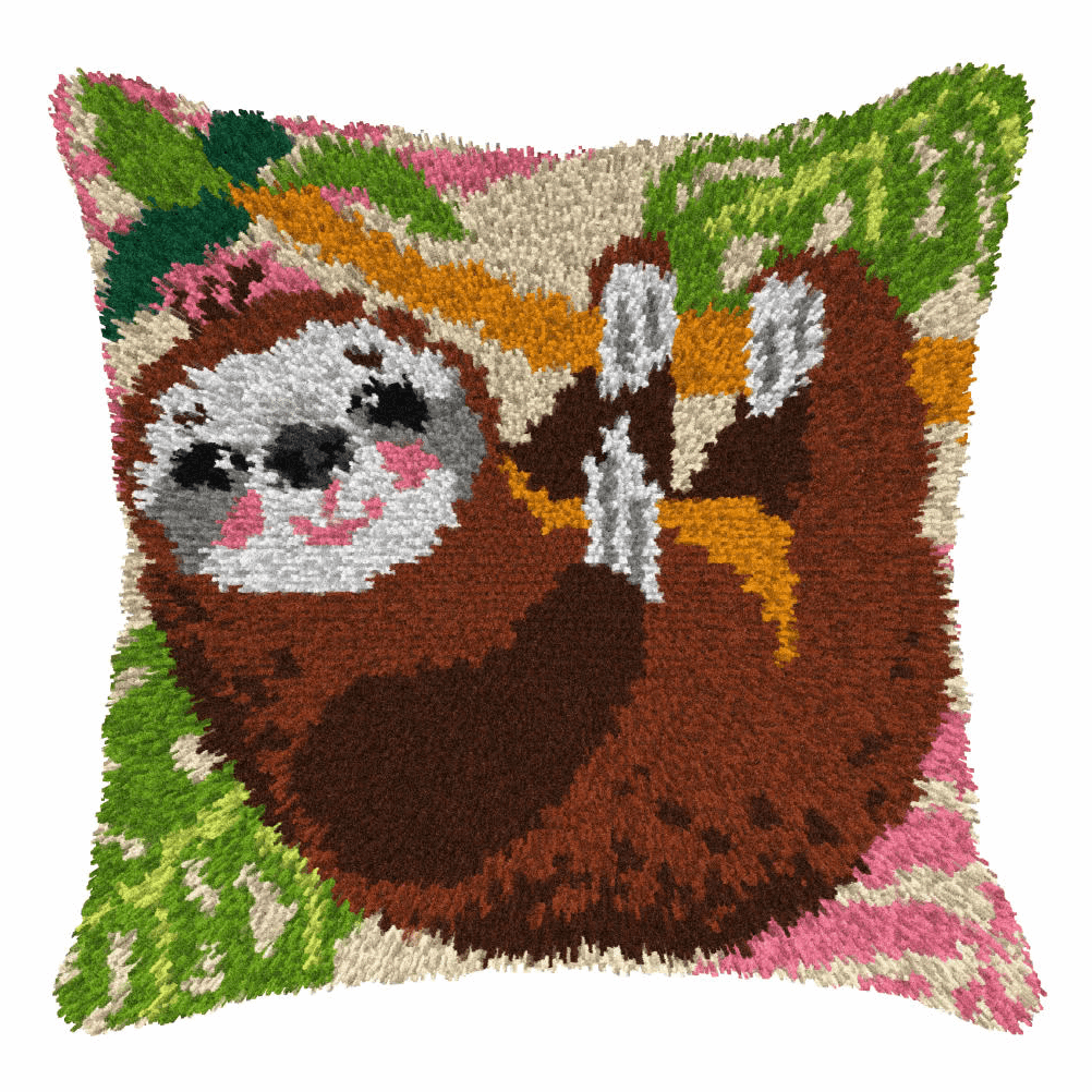 Picture of Latch Hook Kit: Cushion: Large: Sloth 2