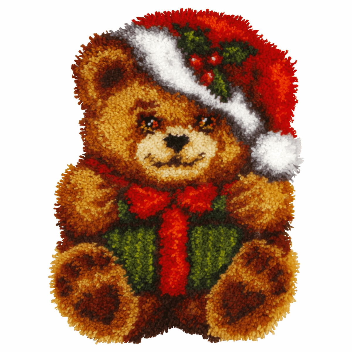 Picture of Latch Hook Kit: Cushion: Large: Christmas Bear