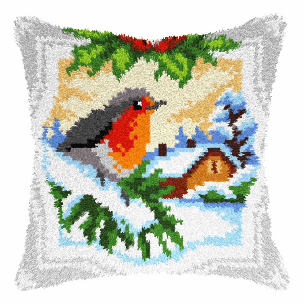 Picture of Latch Hook Kit: Cushion: Large: Bullfinch