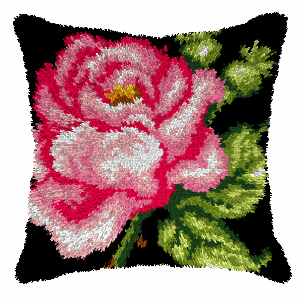 Picture of Latch Hook Kit: Cushion: Large: Rose