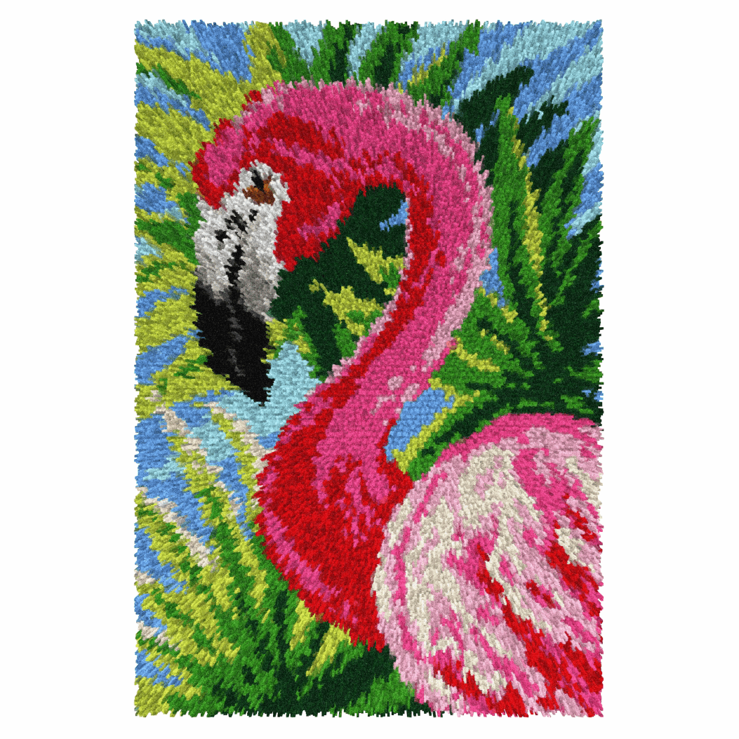 Picture of Latch Hook Kit: Rug: Flamingo