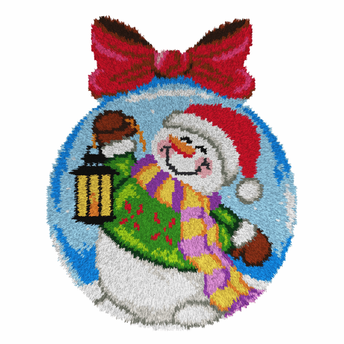 Picture of Latch Hook Kit: Rug: Snowman