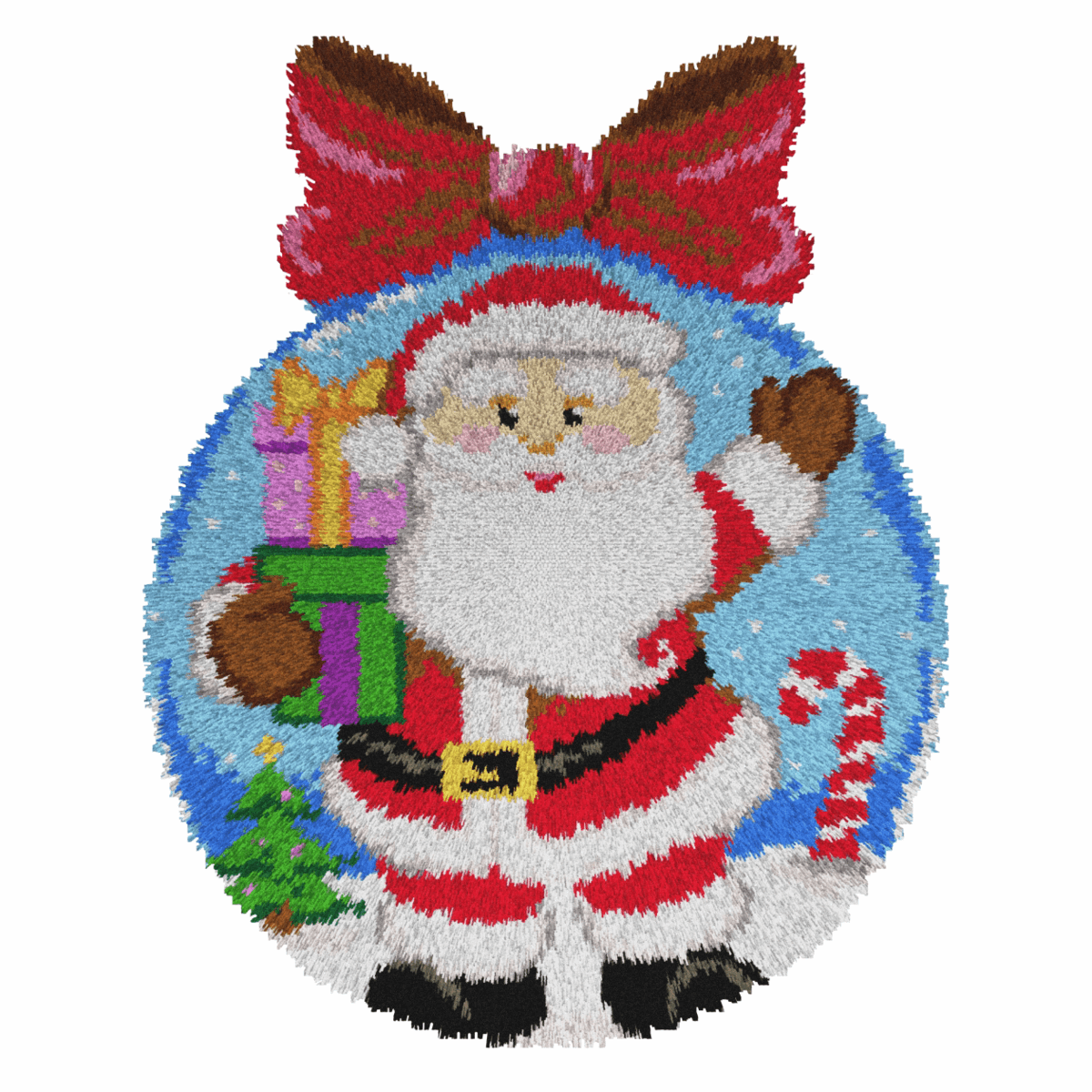 Picture of Latch Hook Kit: Rug: St. Claus Bauble