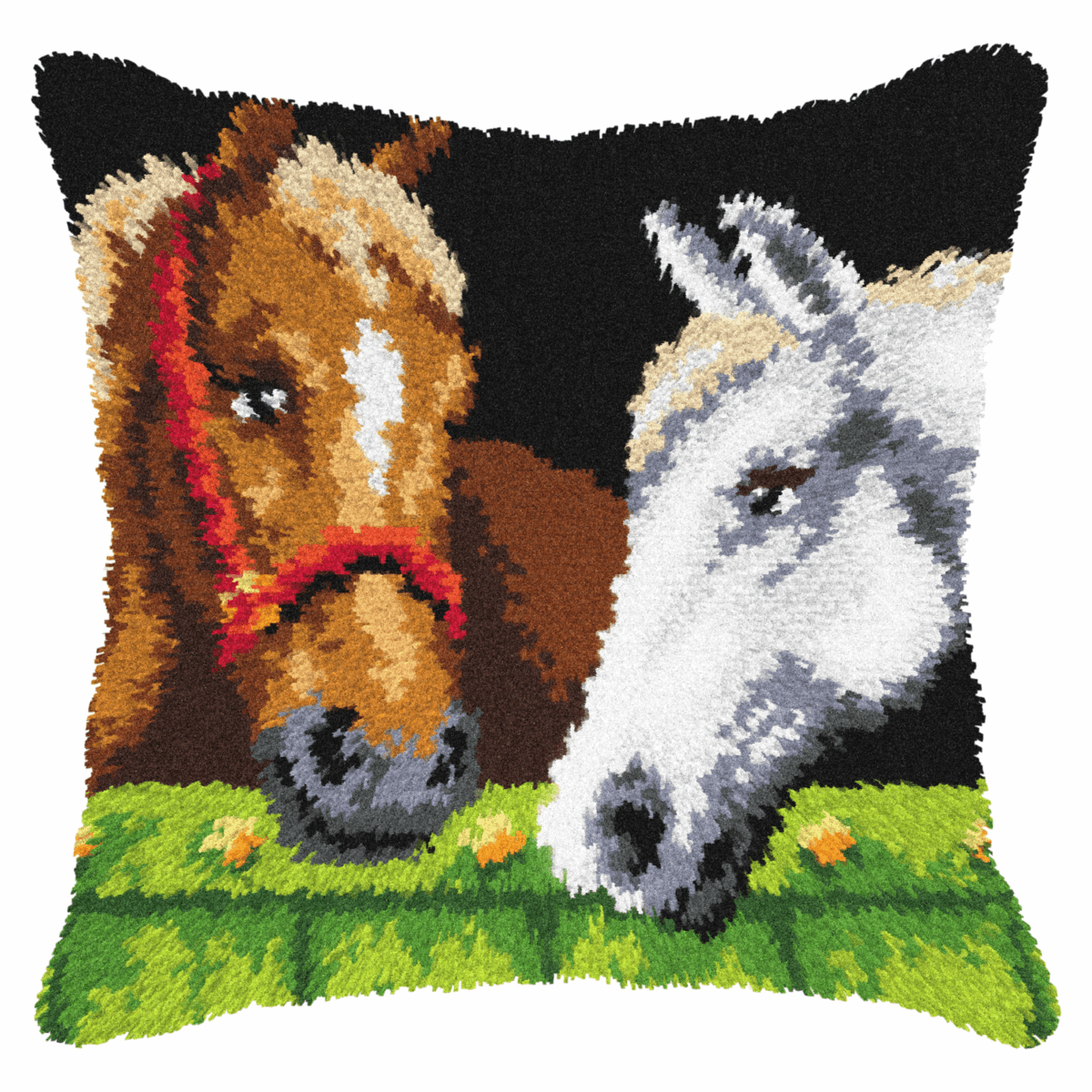 Picture of Latch Hook Kit: Cushion: Horses
