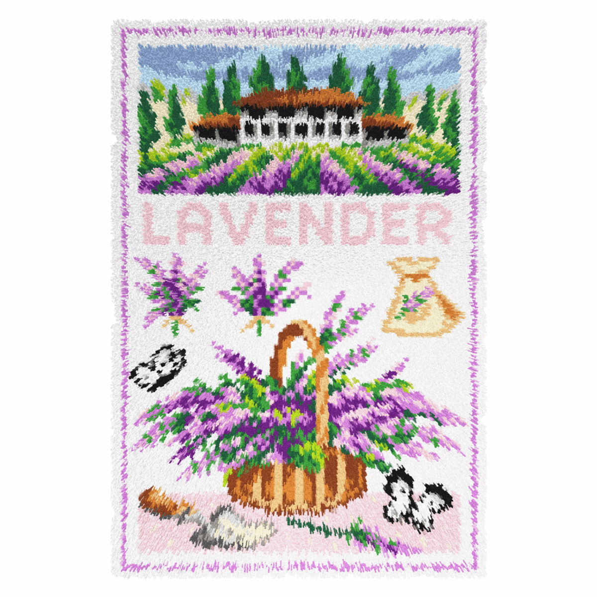 Picture of Latch Hook Kit: Rug: Lavender