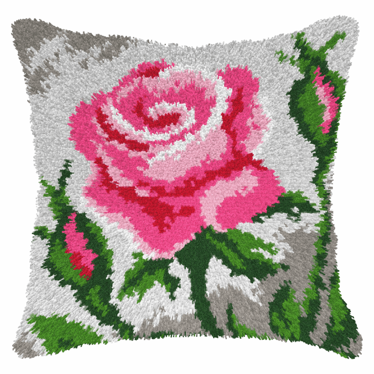 Picture of Latch Hook Kit: Cushion: Roses