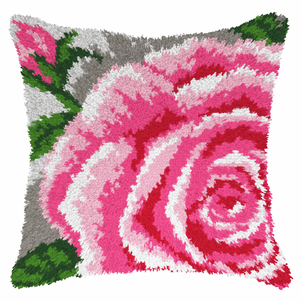 Picture of Latch Hook Kit: Cushion: Rose