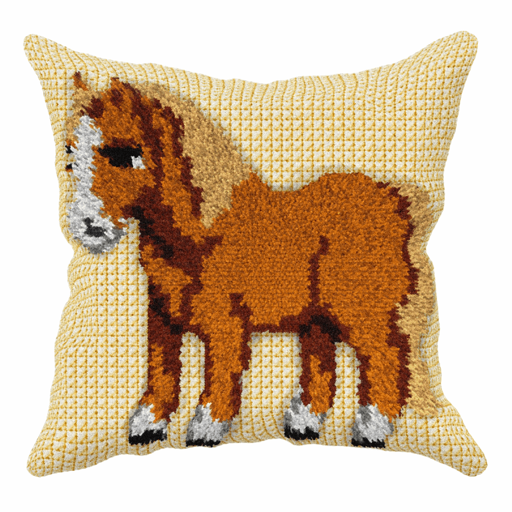 Picture of Latch Hook Kit: Cushion: Sensory: Pony
