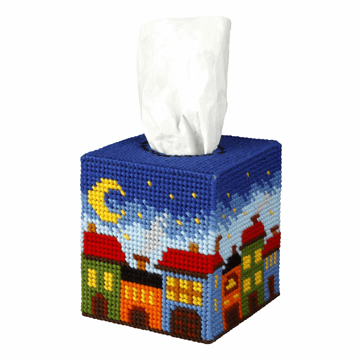 Picture of Needlepoint Kit: Tissue Box Cover: Night City