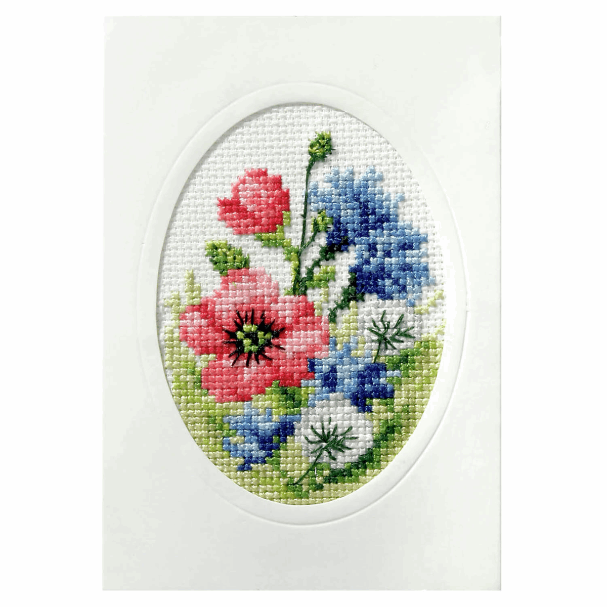 Picture of Cross Stitch Card: Poppies