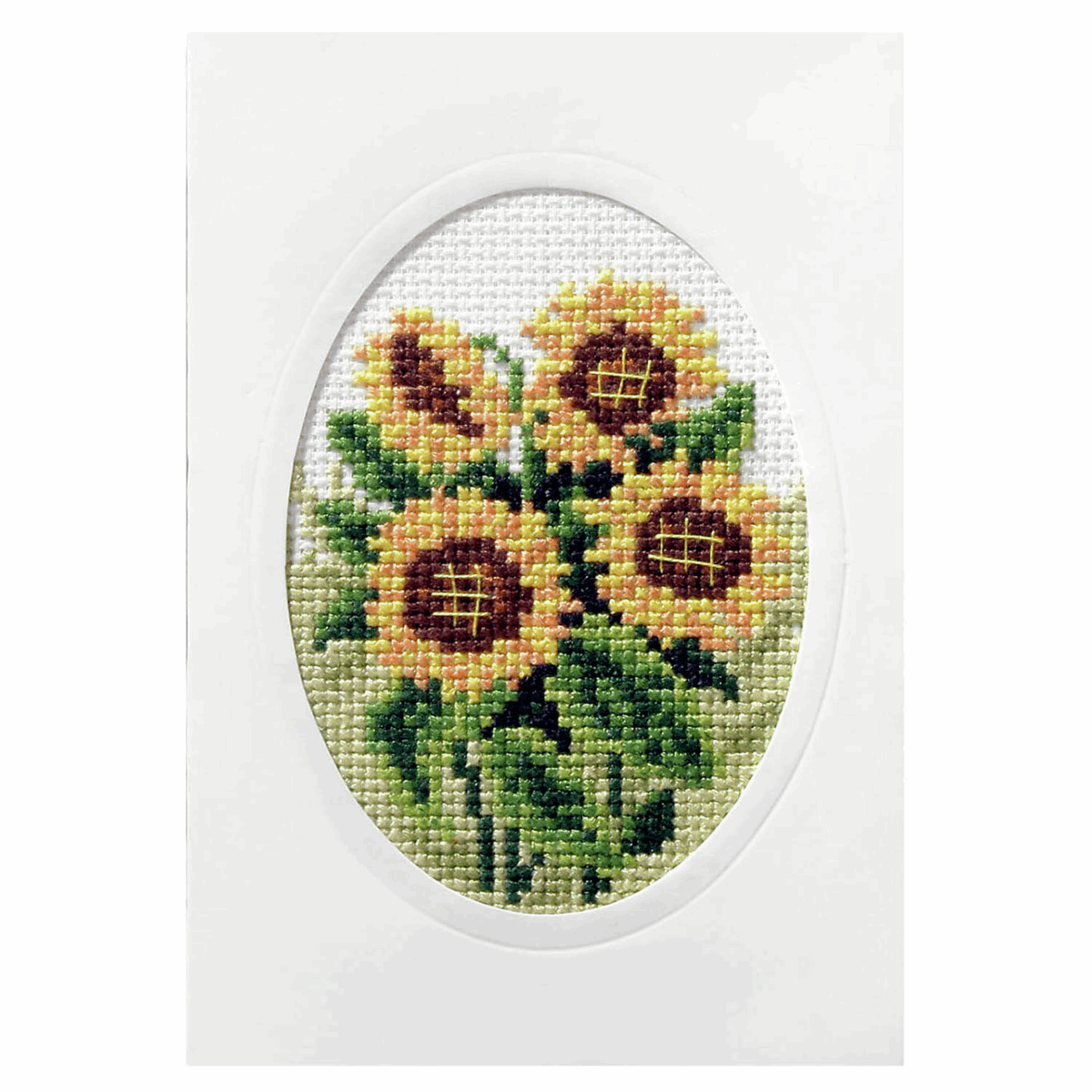 Picture of Cross Stitch Card: Sunflowers