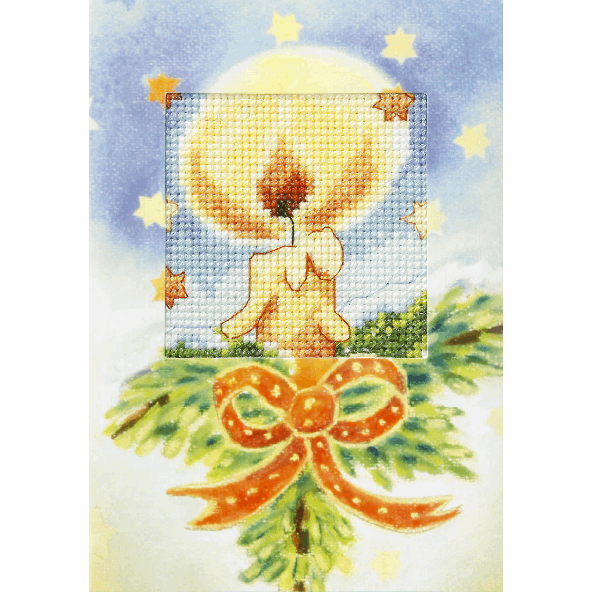 Picture of Cross Stitch Kit: Greetings Card: Candle