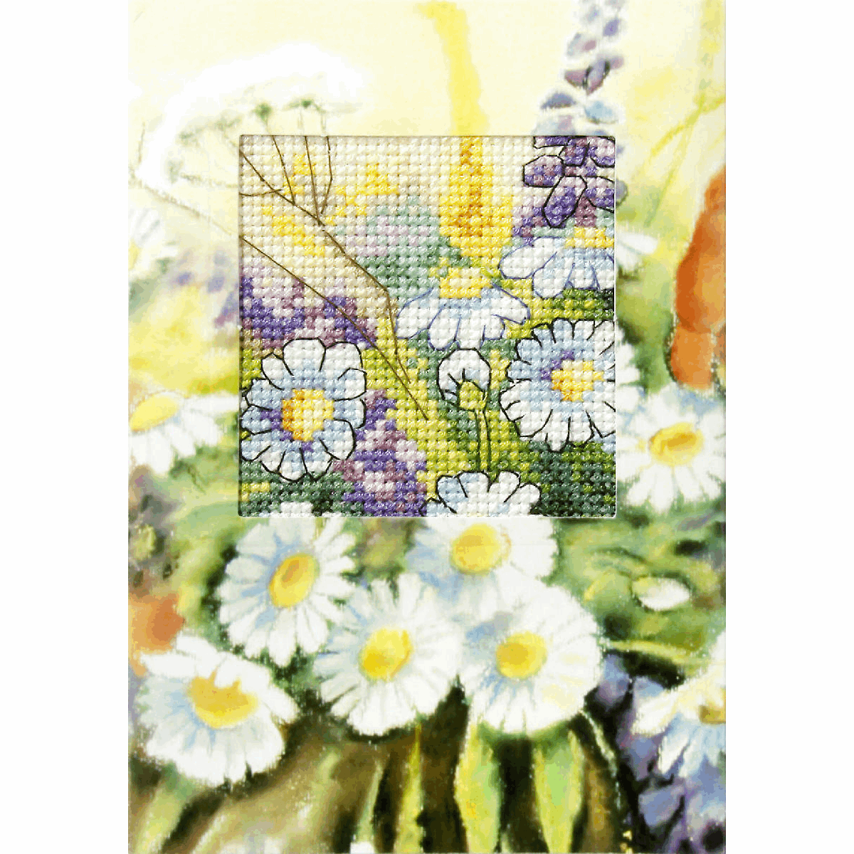 Picture of Cross Stitch Kit: Greetings Card: Daisies
