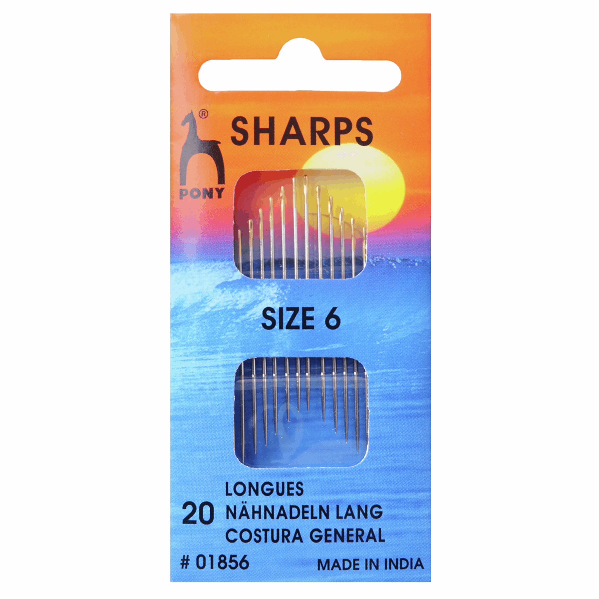 Picture of Hand Sewing Needles: Sharps: Gold Eye: Size 6