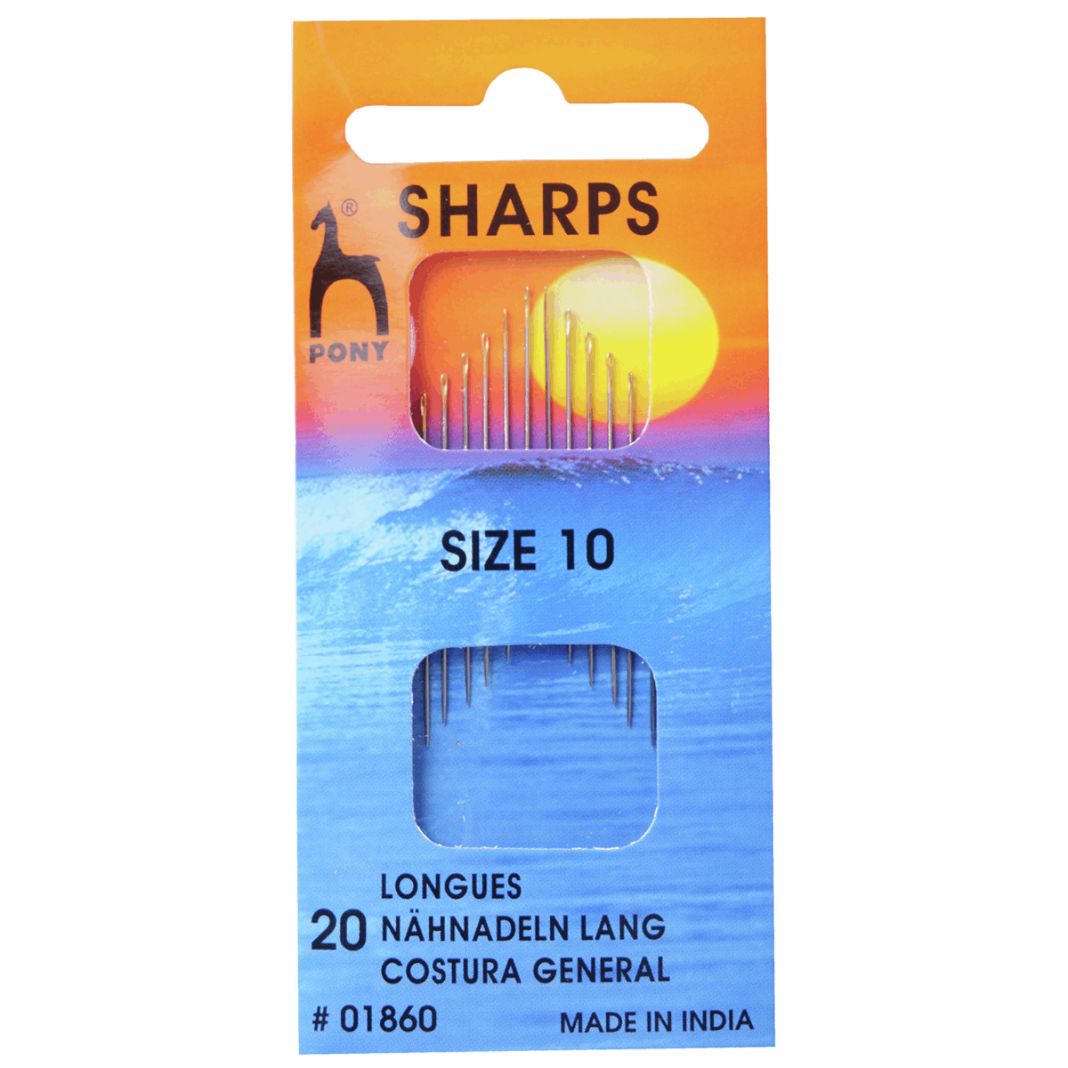 Picture of Hand Sewing Needles: Sharps: Gold Eye: Size 10