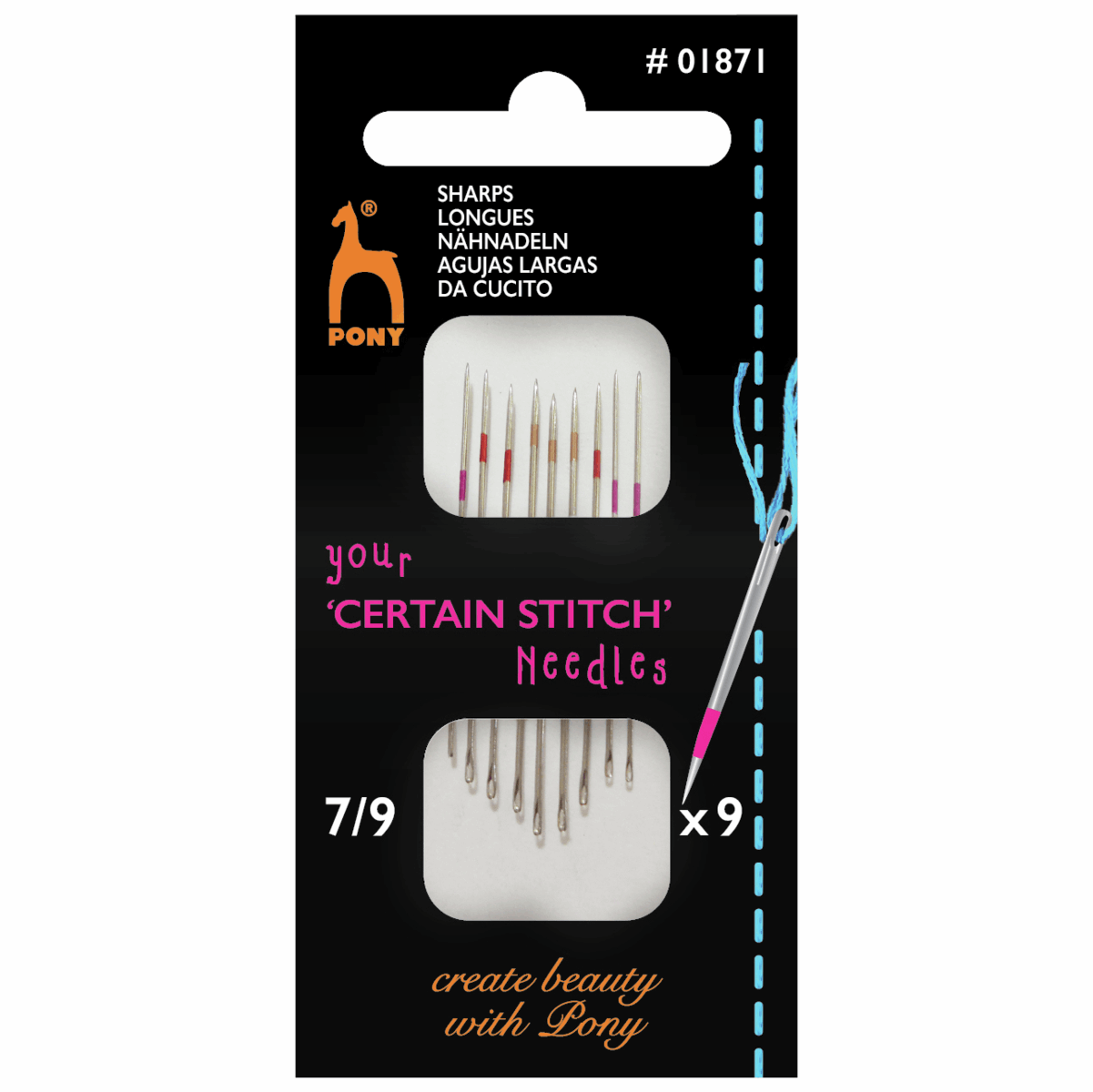 Picture of Hand Sewing Needles: Sharps: Size 7-9
