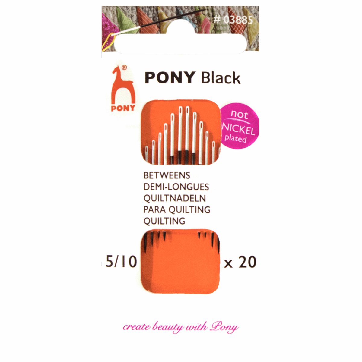 Picture of Hand Sewing Needles: Betweens: Black with White Eye: Size 5 -10