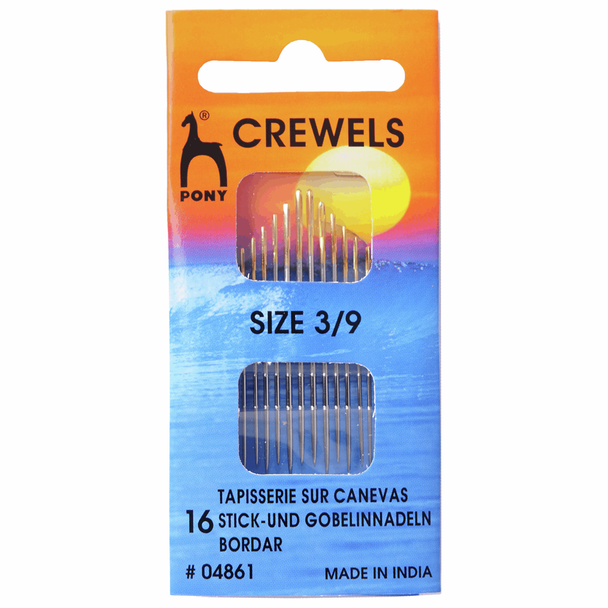 Picture of Hand Sewing Needles: Crewels: Gold Eye: Size 3-9