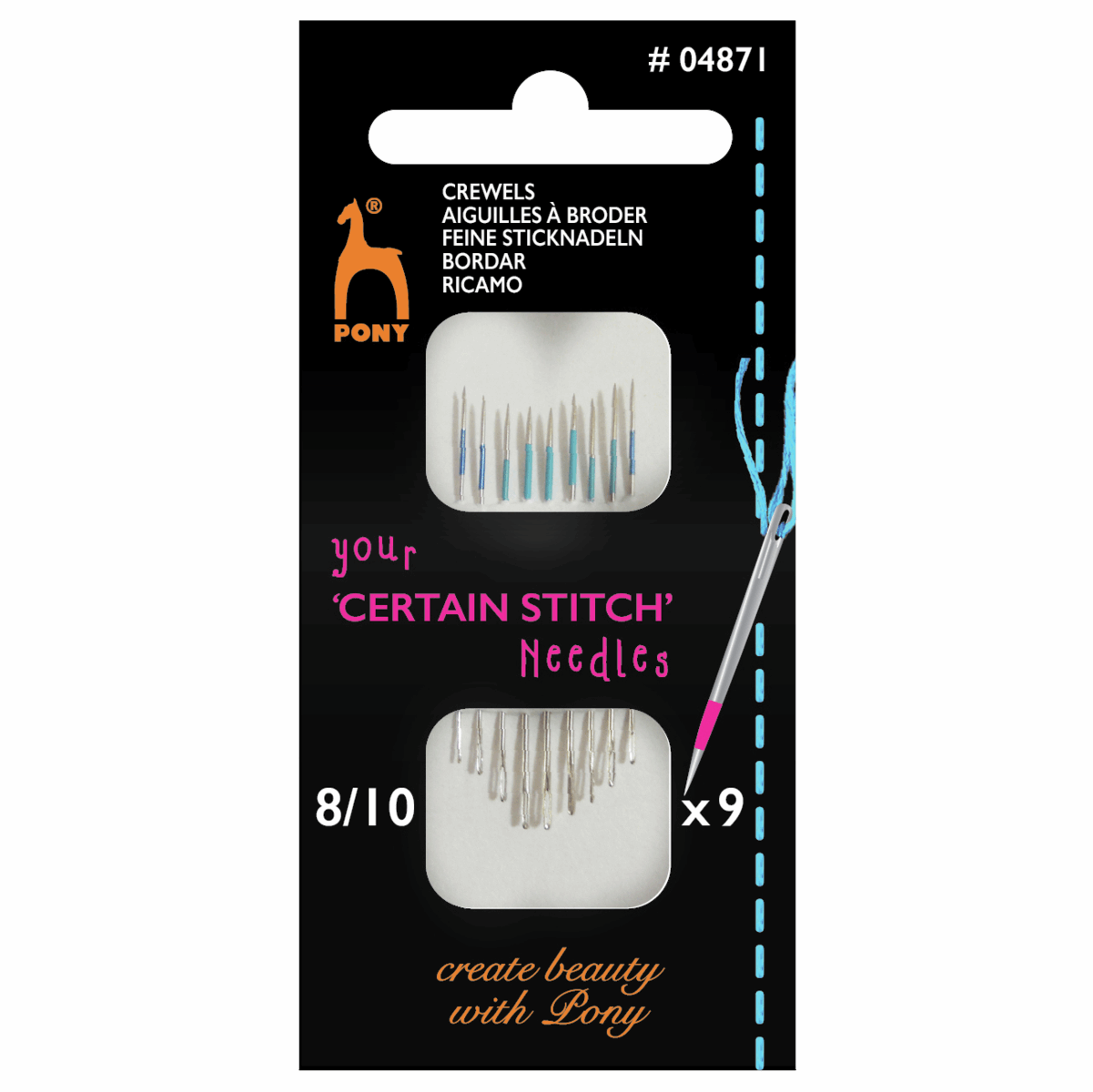 Picture of Hand Sewing Needles: Crewels: Size 8-10
