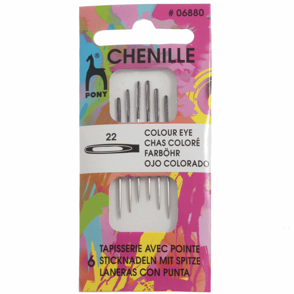 Picture of Hand Sewing Needles: Chenille: Colour-Coded Eye: Size 22